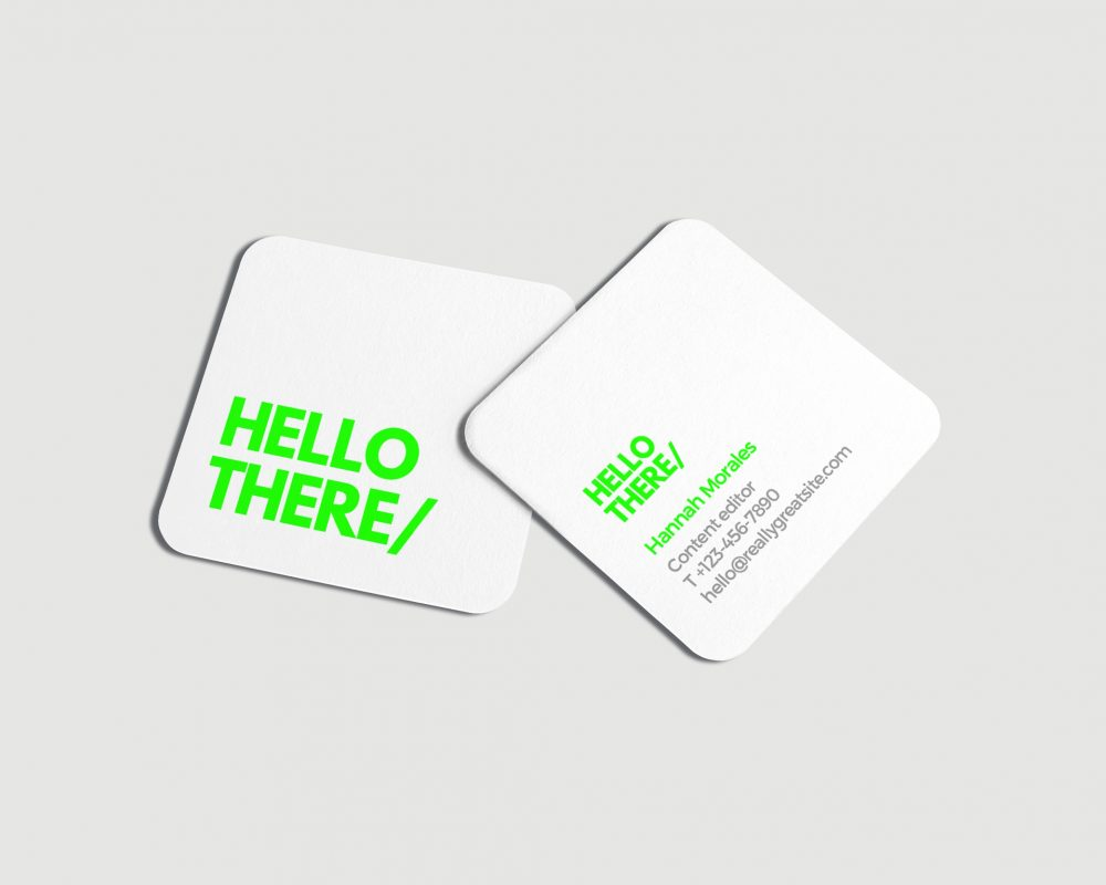 Business Cards - Square (Round Corner)